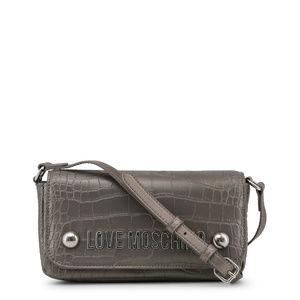 Love Moschino Grey Leather Clutch Bag